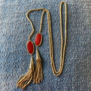 Red Kendra Scott Wrap Necklace (Discontinued)